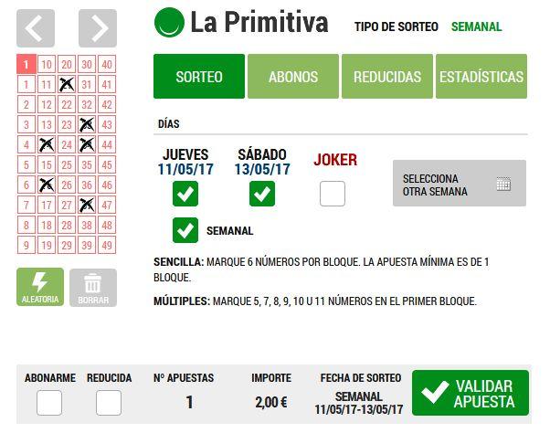Jugar a La Primitiva: Loteriacano.com