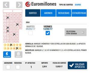 Jugar a Euromillones: Loteriacano.com