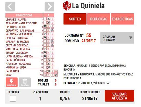 Jugar a La Quiniela: Loteriacano.com