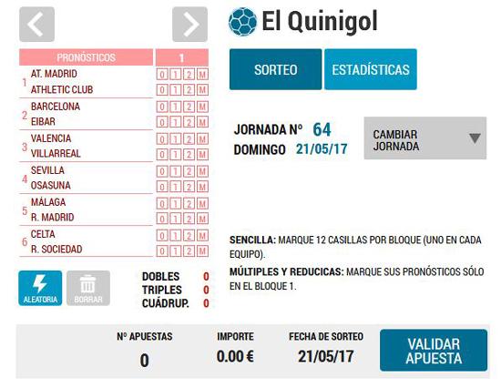 Jugar al Quinigol: Loteriacano.com
